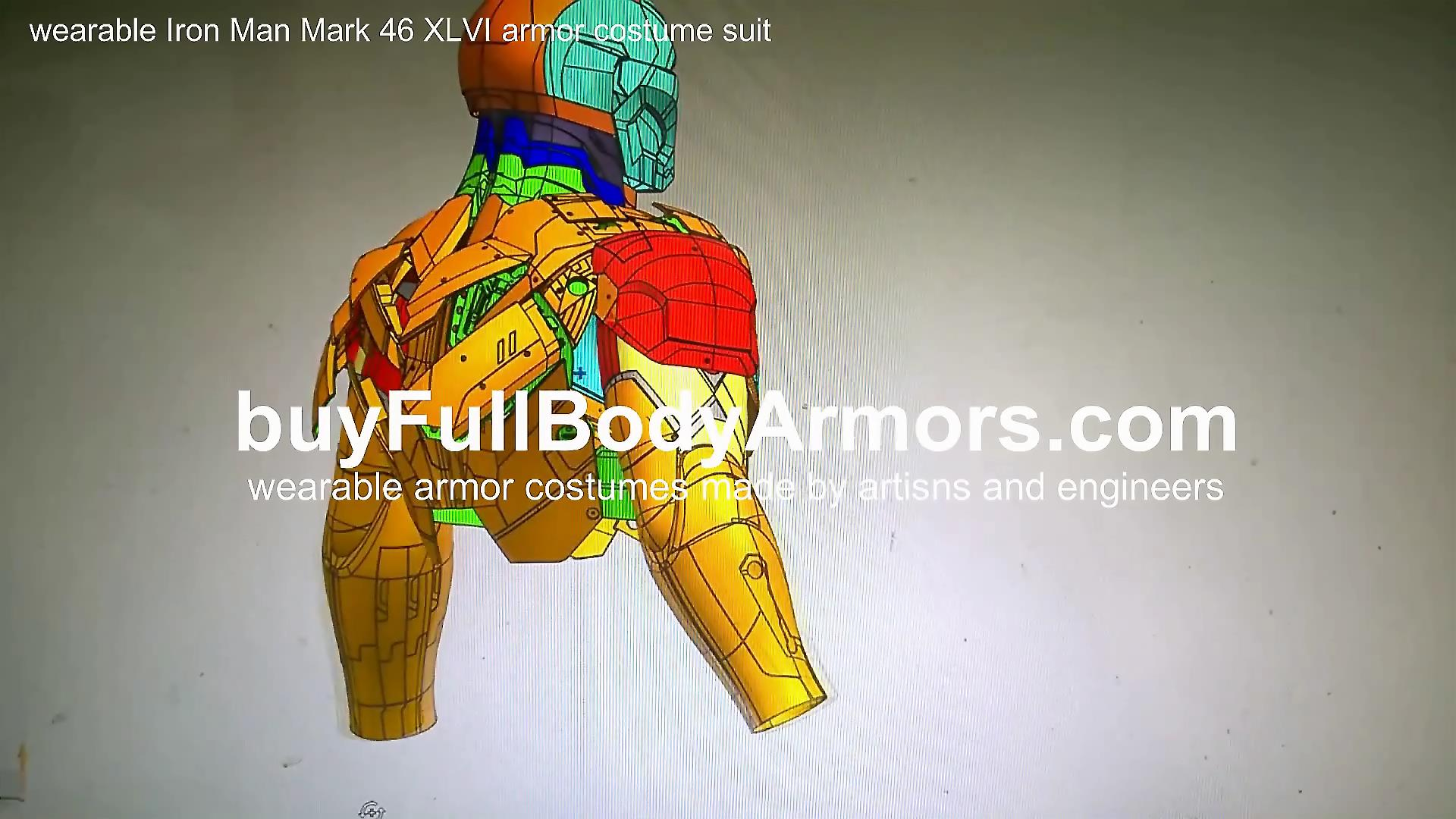 The Ultra-Realistic Movie-Accurate Wearable Iron Man Mark 46 (XLVI) Armor Costume Suit 3D Modelling 1
